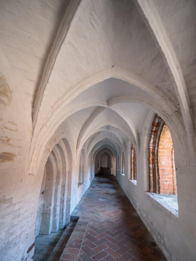 St Catherine Monastery em Ribe velho, Dinamarca fotos de stock