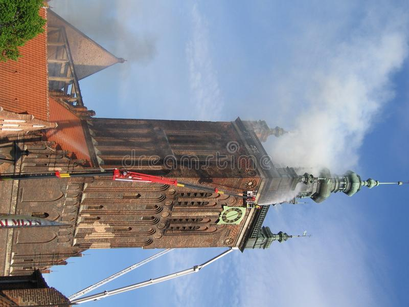 St.Catherine s church in fire