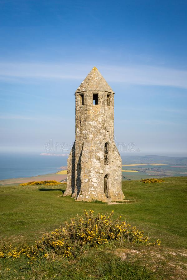 Free St Catherine`s Oratory On The Isle Of Wight Stock Photography - 147988152