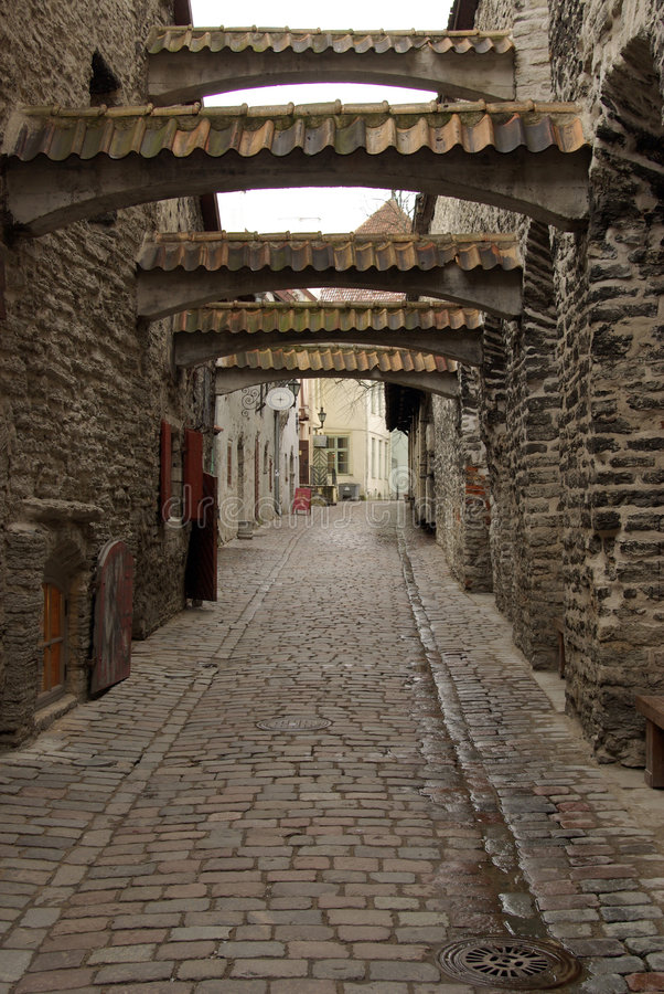 Download St. Catherine's Passage stock image. Image of city, estland - 4667363