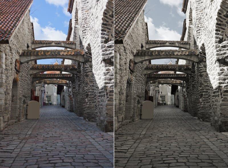 St. Catherine's Passage in Tallinn, Estonia royalty free stock photo