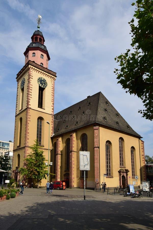 St Cathrine Church (KATHARINENKIRCHE) in Frankfurt op de Leiding, Duitsland stock afbeeldingen