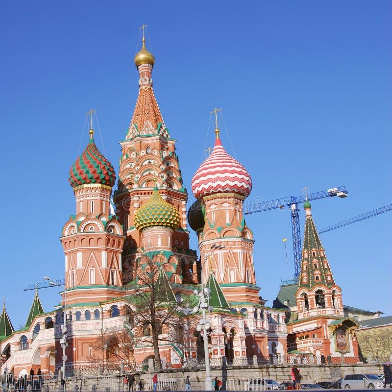 St Cattedrale del basilico, quadrato rosso, Mosca, Russia immagini stock libere da diritti