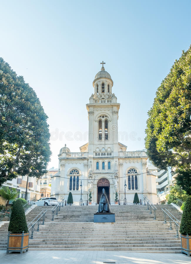 St. Charles cathedral in Monaco stock image
