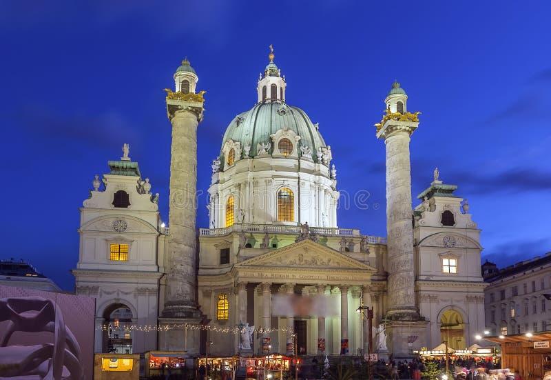 St. Charles Church, Wien lizenzfreies stockbild