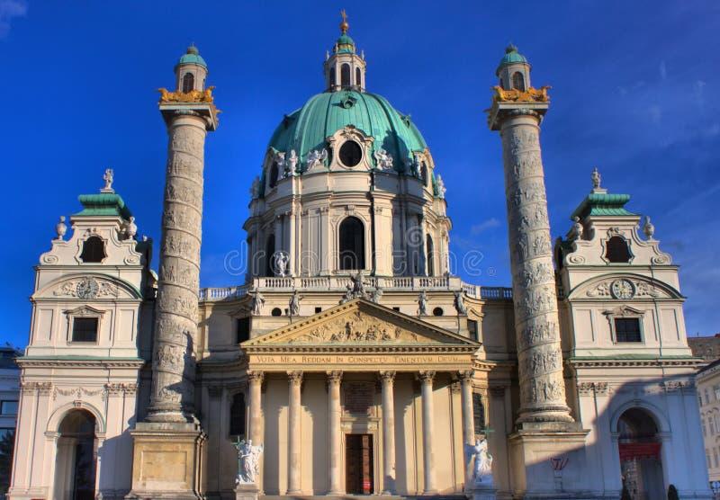 St Charles kościół w Wiedeń zdjęcia royalty free