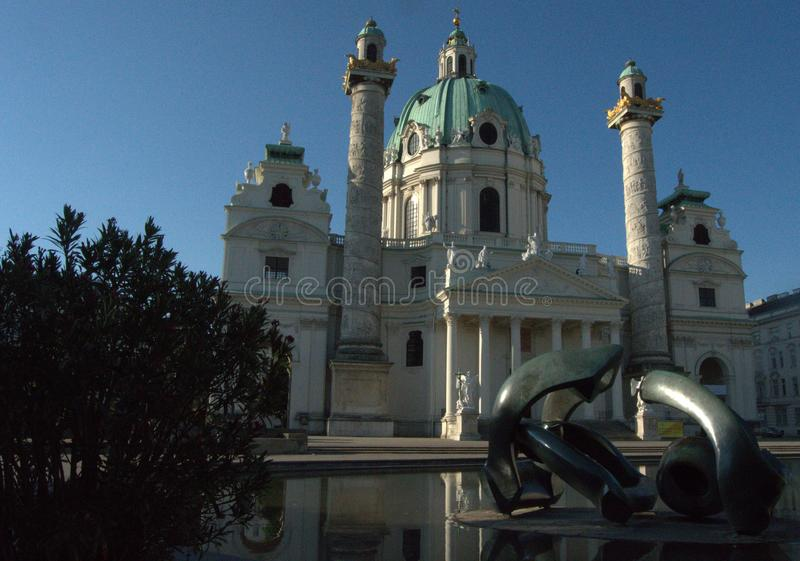 St Charles kościół, Wiedeń, Austria obraz royalty free