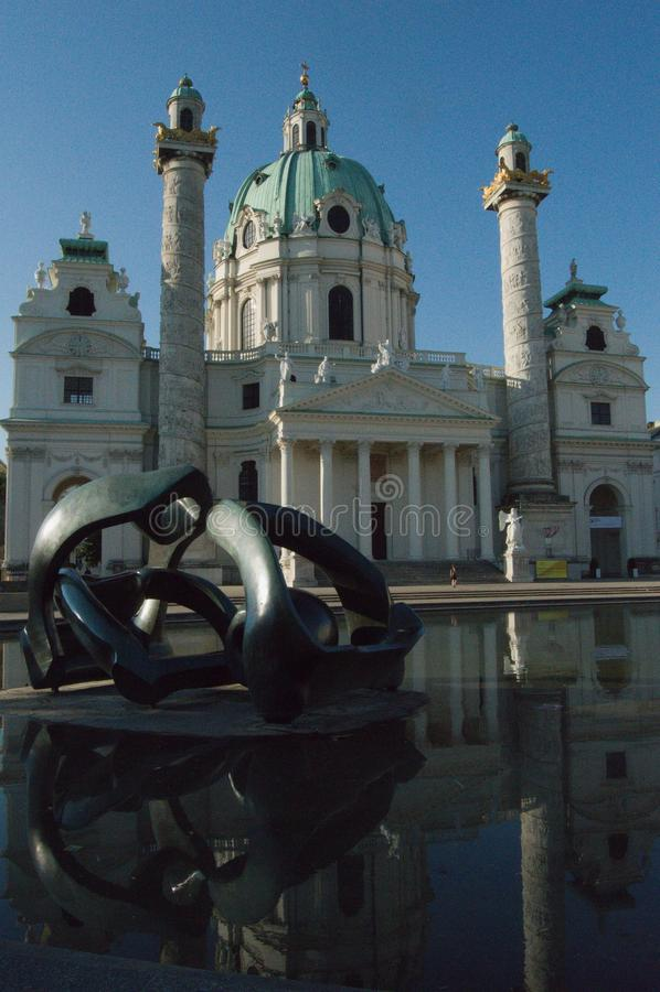St Charles kościół, Wiedeń, Austria zdjęcia royalty free