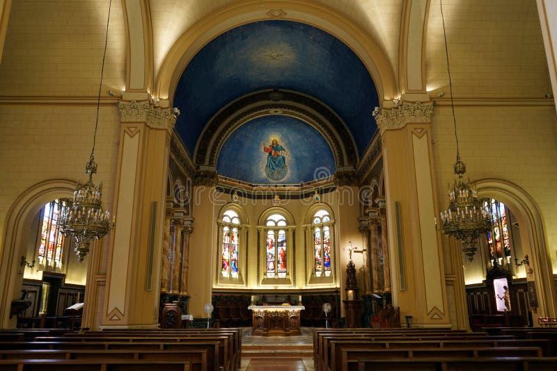 St Charles kyrka i Monaco arkivfoto