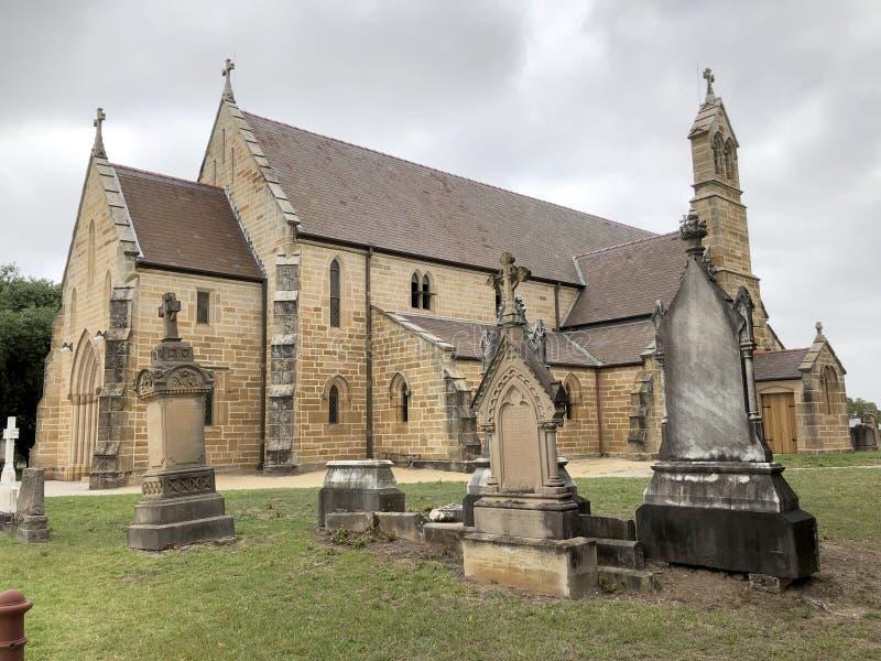 St Charles kyrka Ryde arkivbild