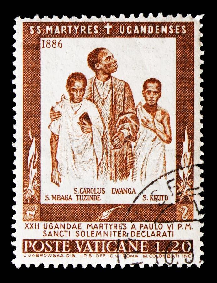 St Charles Lwanga, sanctification des martyres du serie de l'Ouganda, vers 1965 photo stock