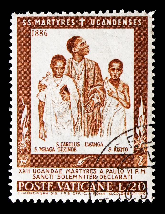 St. Charles Lwanga, Weihe der Märtyrer von Uganda-serie, circa 1965 stockfoto