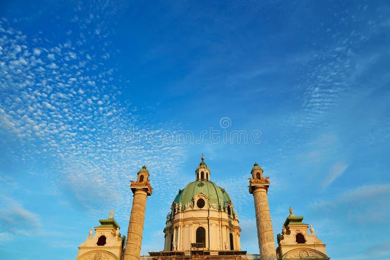 St. Charles's Church (Karlskirche) in Vienna, Austria royalty free stock photos