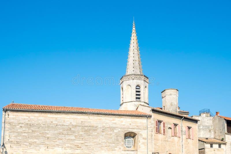 St Charles skolatorn i Arles, Frankrike royaltyfri foto