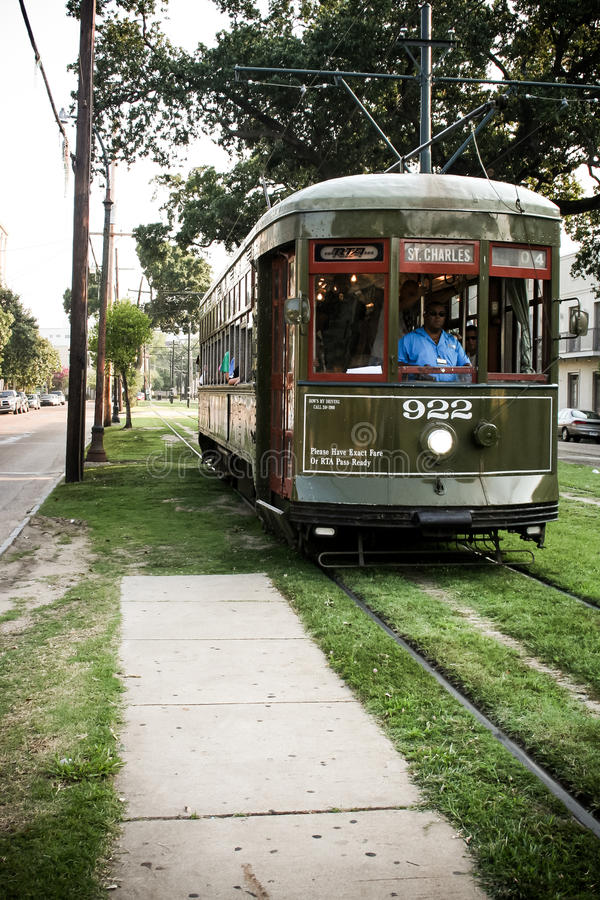 St Charles Streetcar New Orleans stock foto's