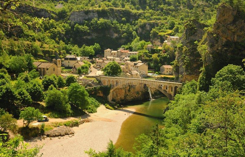 St Chely du el Tarn, Francia imágenes de archivo libres de regalías