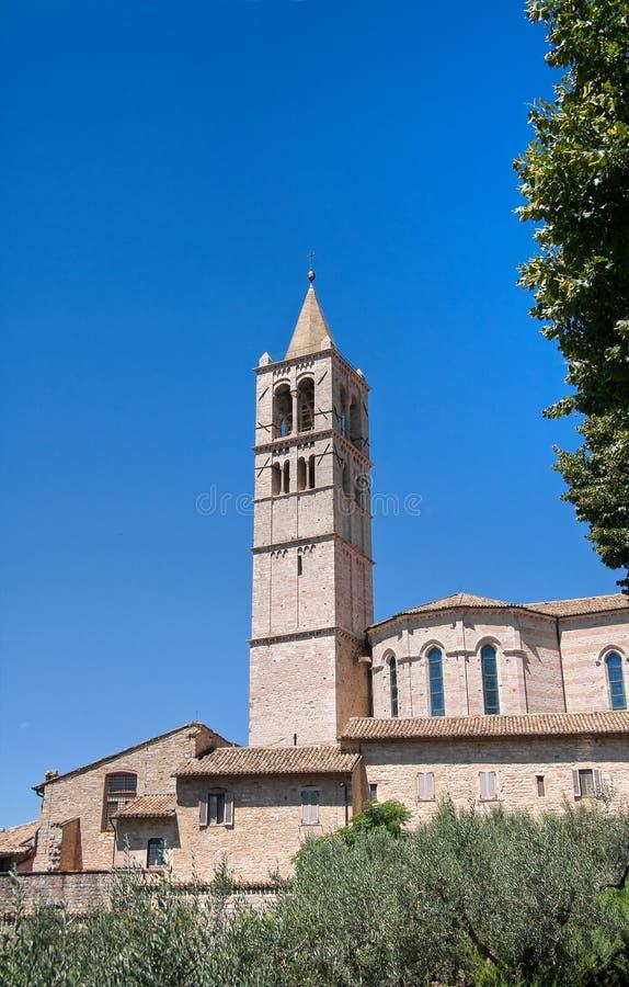 St. Chiara Basilica Belltower. Assisi. Umbria.