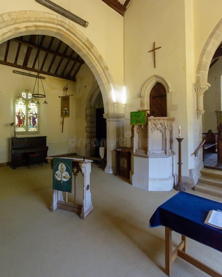 St Christopher ` s kościół - pulpit i ambona zdjęcia royalty free