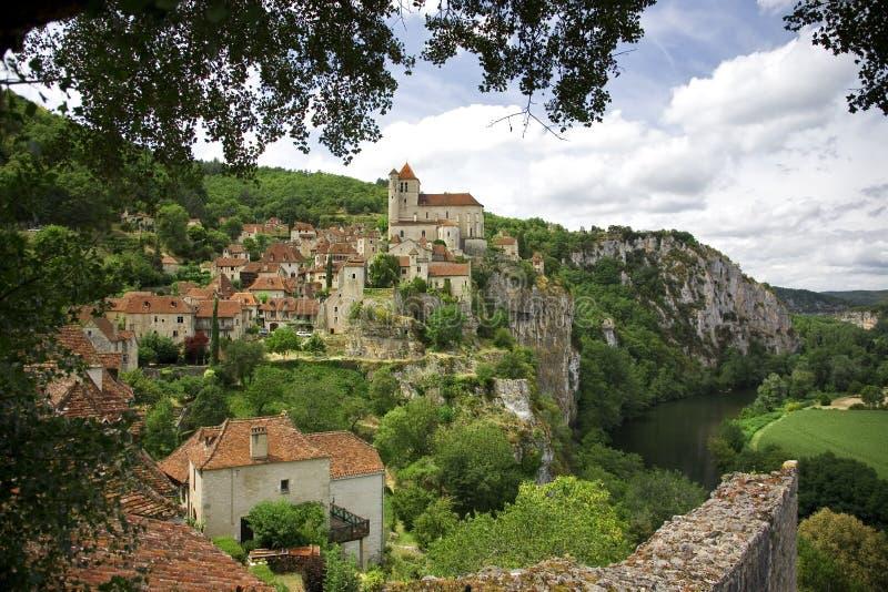 St.Cirq de Lapopie, France photo stock