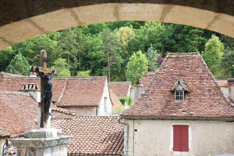 St.Cirq de Lapopie, France images libres de droits