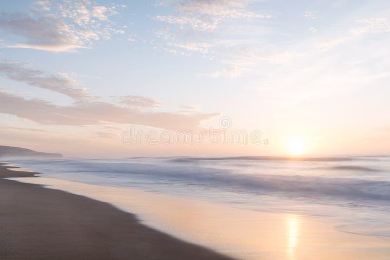 St Clair Beach em Dunedin, Nova Zelândia fotografia de stock royalty free