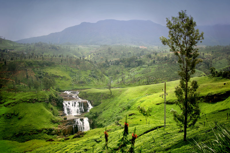 St Clair Falls in Sri Lanka stock photos