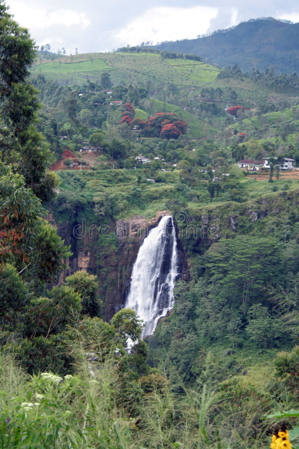 St Clair Falls is the widest waterfall in Sri Lanka stock photo