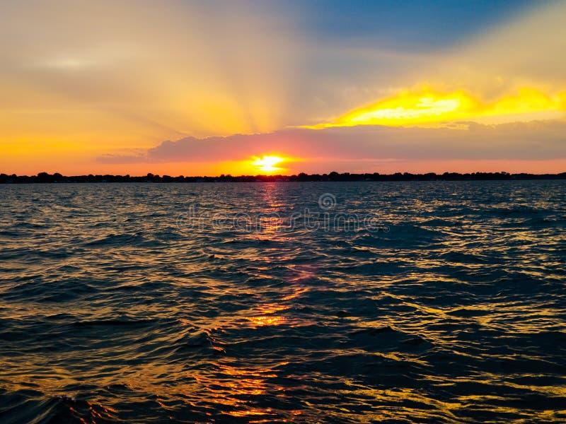 St Clair Sunset stockfoto
