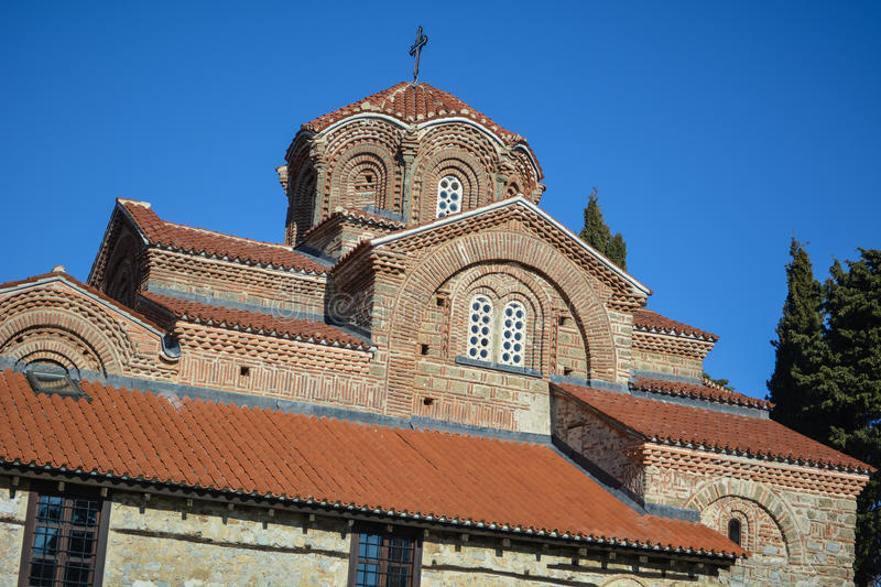 The St. Clement Church in Ohrid - Holy Mother of God Peribleptos Church. The St. Clement Church in Ohrid is one of the oldest churches in the city of Ohrid and royalty free stock photo