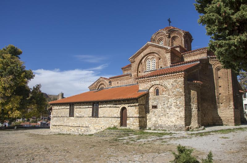 Holy Mary Peryvleptos - St. Clement - Ohrid, Macedonia. St. Clement - Ohrid, Macedonia - Holy Mary Peryvleptos - old church royalty free stock photography