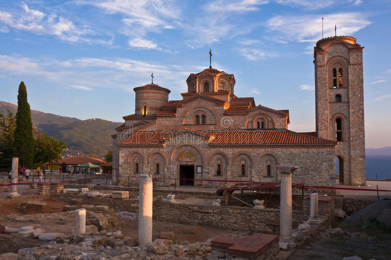 St. Clement's Monastery at Sunset stock images