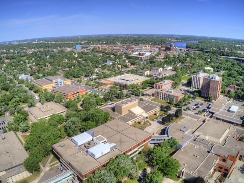St. Cloud University is a College on the Mississippi River in Central Minnesota.  stock photo