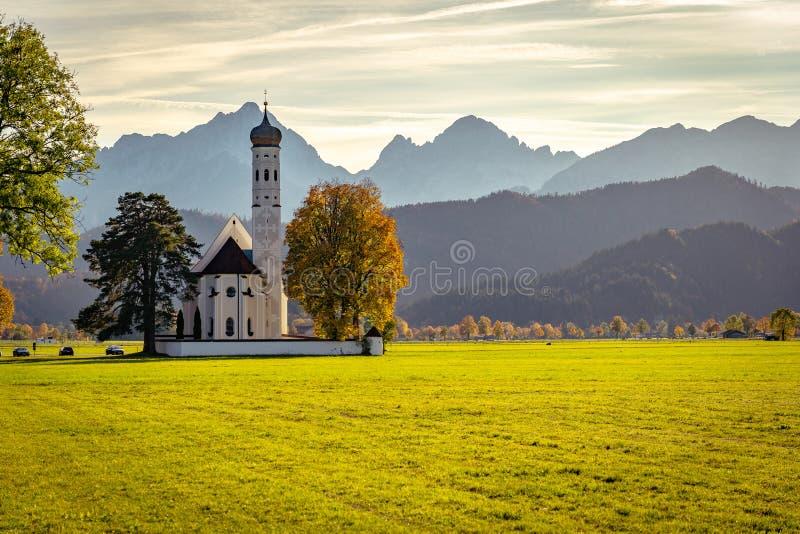 St. Coloman - catholic church in Schwangau, Germany. St. Coloman is a catholic church in Schwangau, Germany stock photos