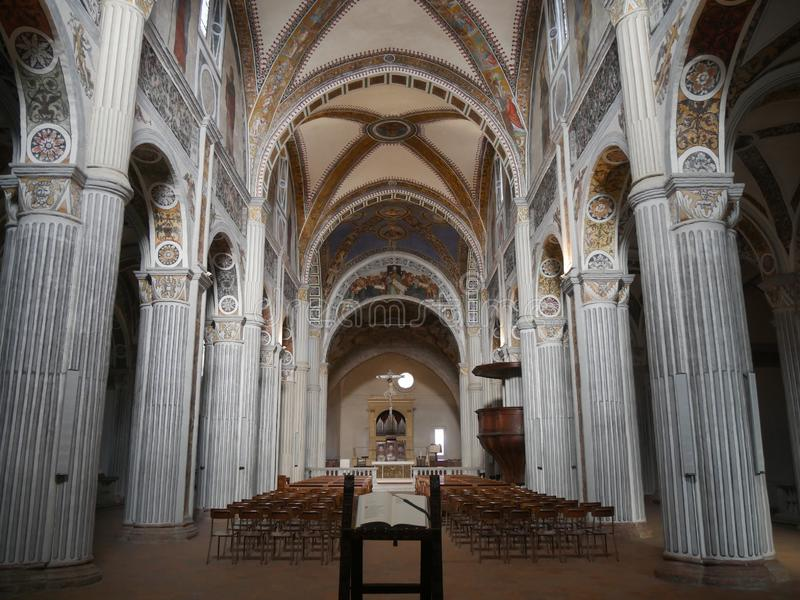 St Colomban Basilica in Bobbio royalty-vrije stock foto's