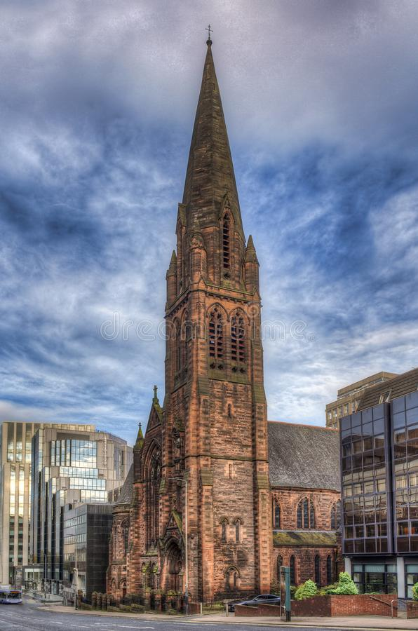 St Columba Church of Scotland. the city of Glasgow in Scotland, United Kingdom.  stock images