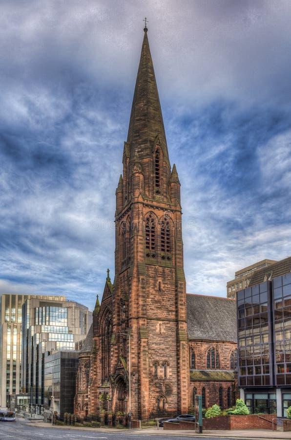 St. Columba Church of Scotland de stad Glasgow in Schotland, Verenigd Koninkrijk stock afbeeldingen