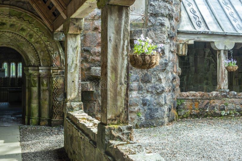 St Conan ` s教会古迹 免版税库存图片
