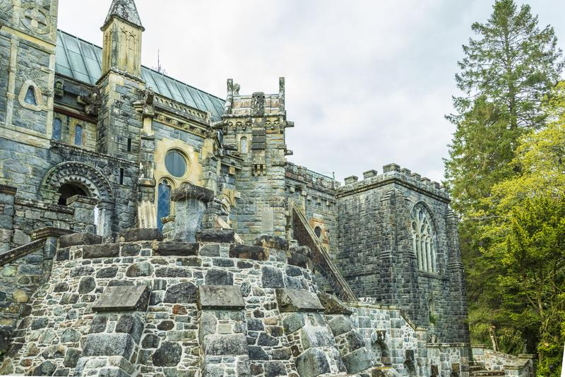 St Conan ` s教会古迹 免版税图库摄影