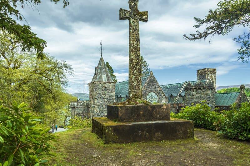 St Conan ` s教会古迹 图库摄影