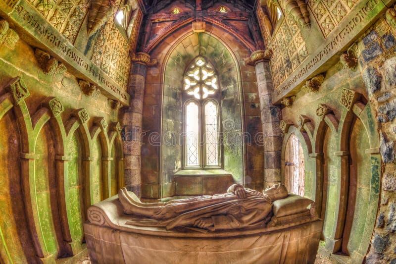 St Conval ` s kaplica zdjęcia royalty free