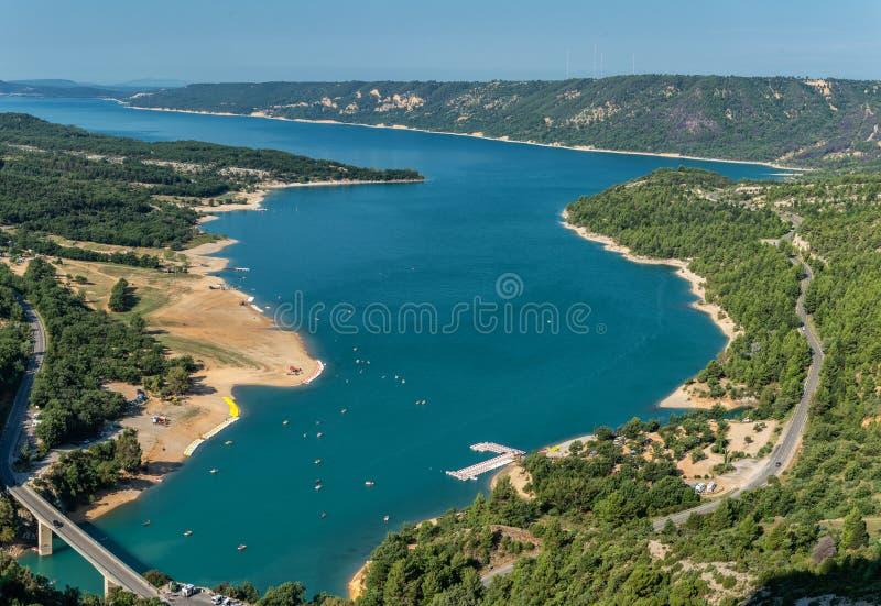 St Croix Lake, Les Gorges du Verdon in France stock images