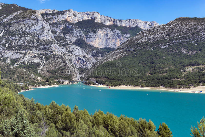 St. Croix Lake, Les Gorges du Verdon, Frankreich stockfotos
