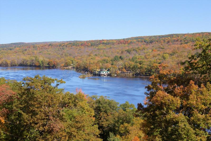 St Croix Scenic River en octobre photos stock