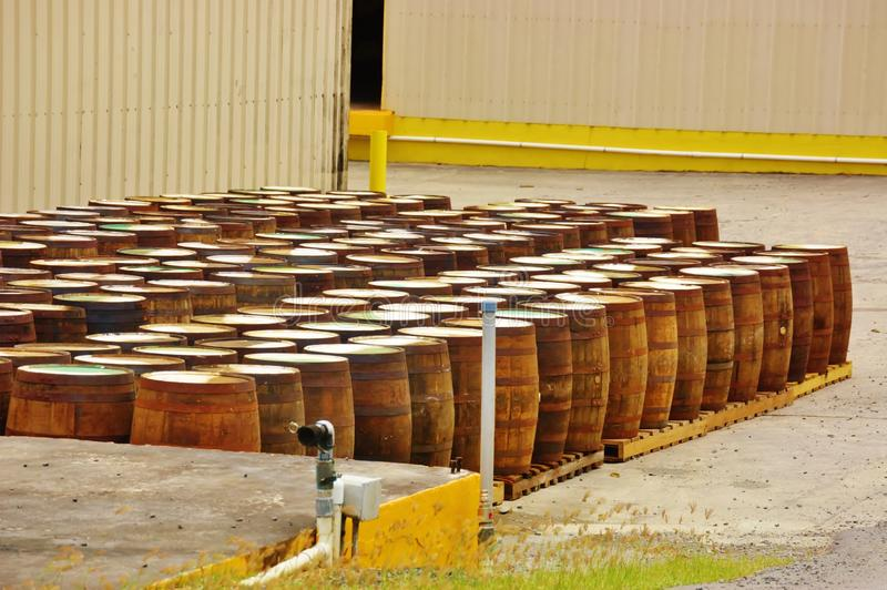 St croix usvi cruzan rum distillery barrels. While on St. Croix visitor will inevitably enjoy some of favorite local spirit, rum. Near the top of the must-do stock photos