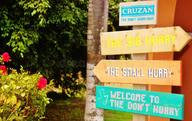 St croix usvi cruzan rum distillery. While on St. Croix visitor will inevitably enjoy some of favorite local spirit, rum. Near the top of the must-do list of royalty free stock image