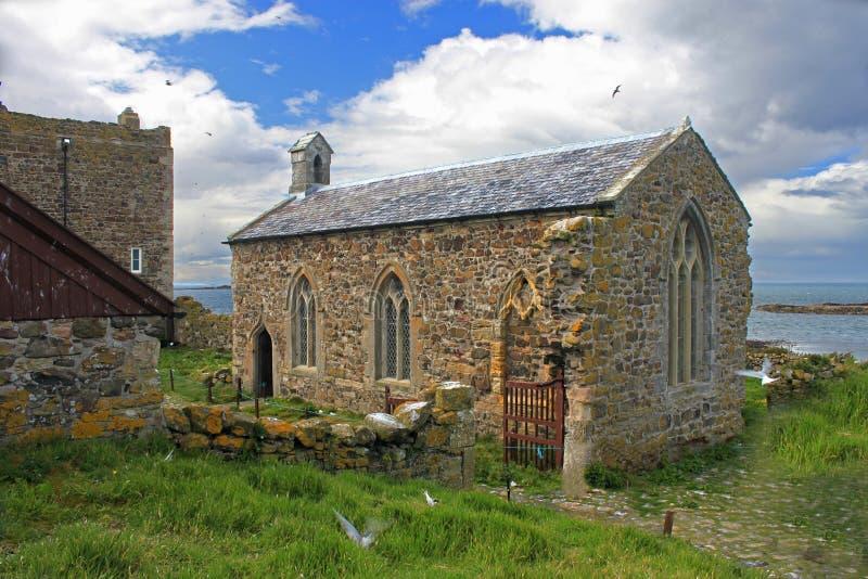St Cuthbert Kapel, Farne-Eilanden Northumberland royalty-vrije stock afbeeldingen