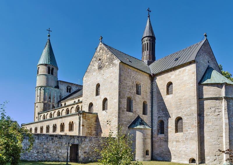 St Cyriakus, Gernrode, Germania fotografia stock libera da diritti
