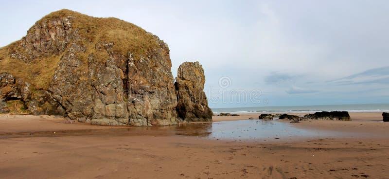 St Cyrus Beach, Schotland stock foto