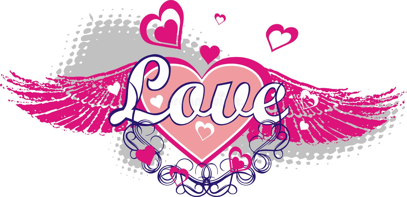 St. Día de tarjeta del día de San Valentín stock de ilustración
