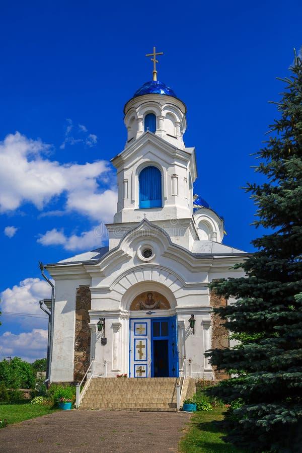 St d'église - intervention, Belarus, village du rouge photo libre de droits